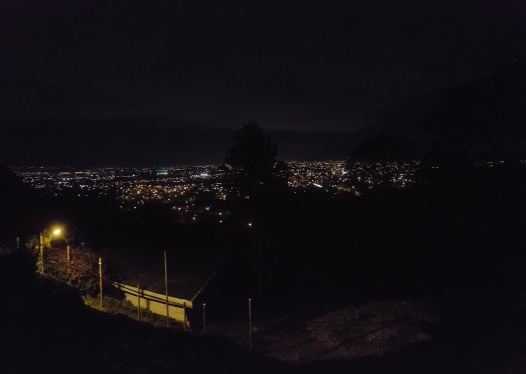 nightime over the city